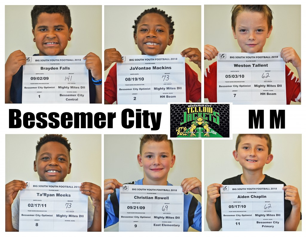 Bessemer City MM Roster page 1