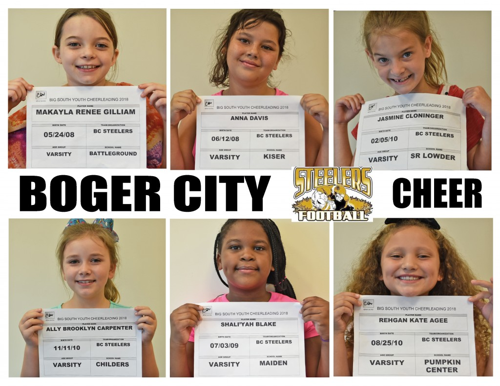 Boger City Steelers Cheer Roster page 3