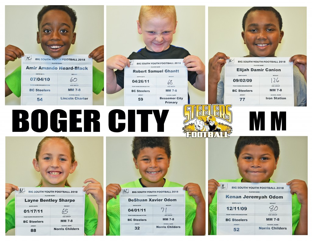 Boger City Steelers MM Roster page 3
