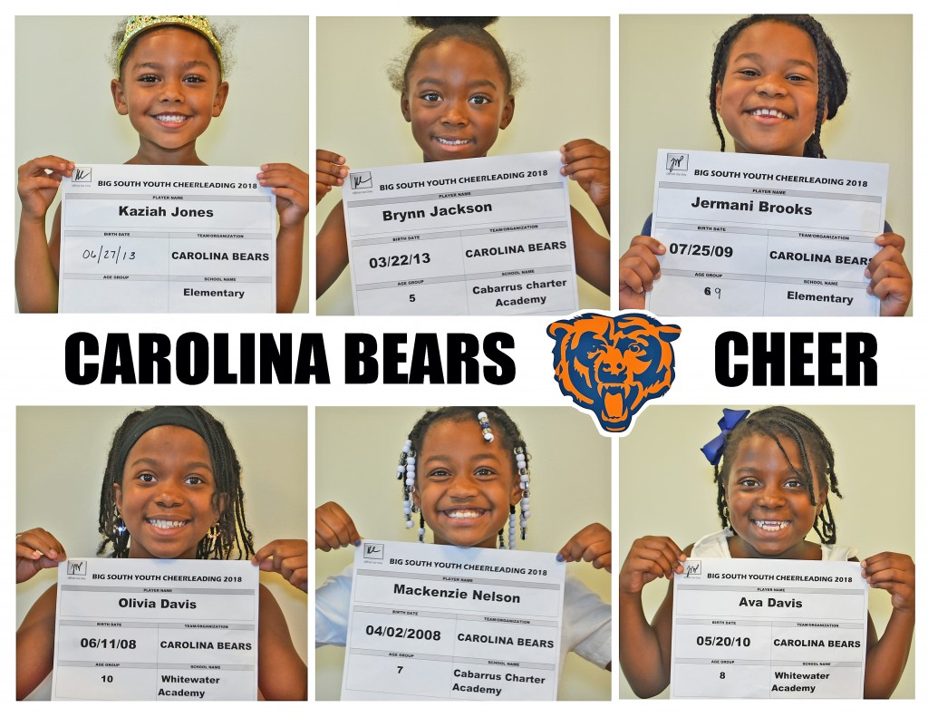 Carolina Bears Cheer Roster page 1