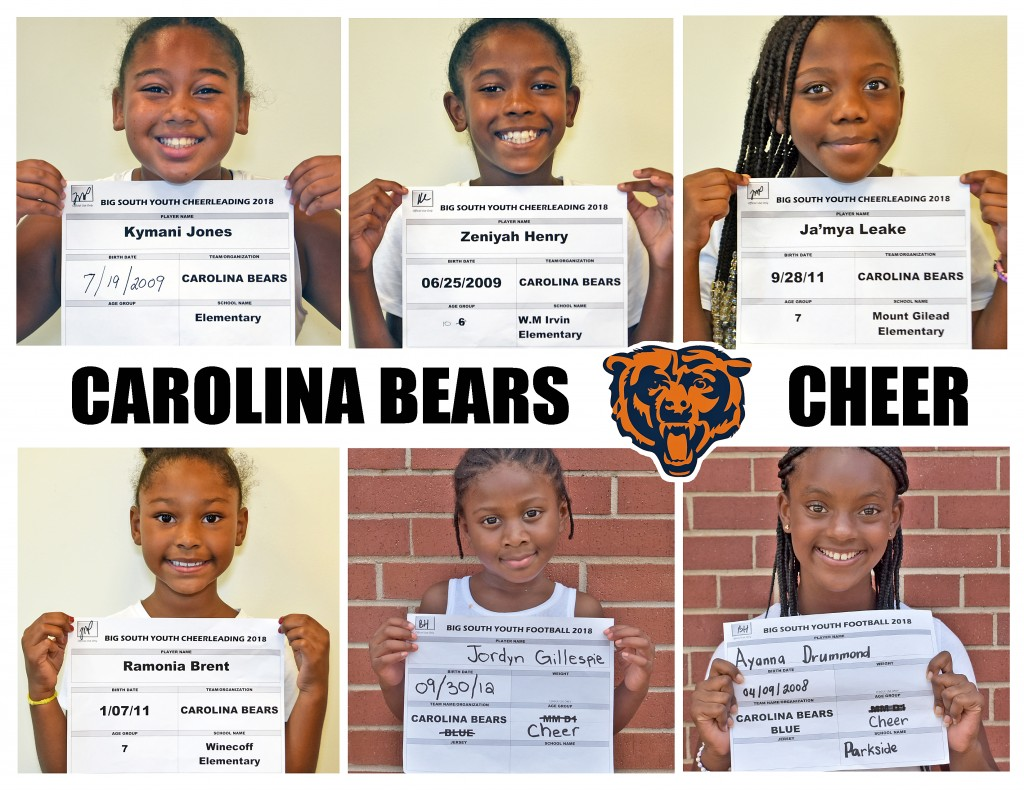 Carolina Bears Cheer Roster page 2