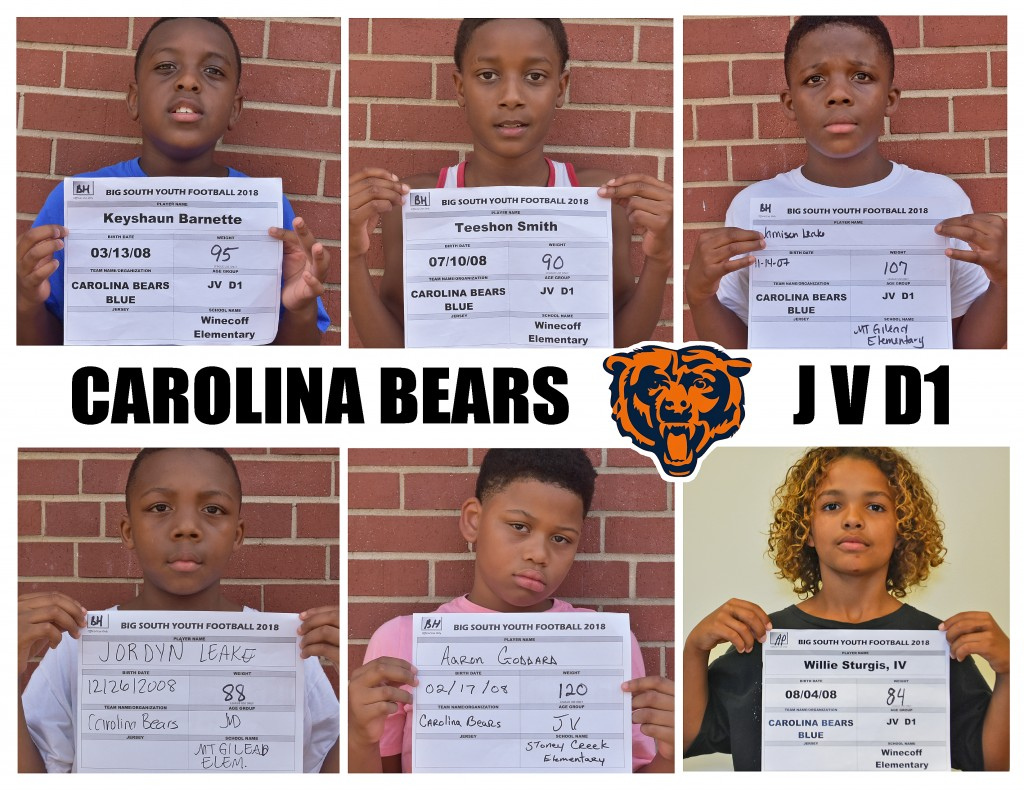 Carolina Bears JVD1 Roster page 4 replacement