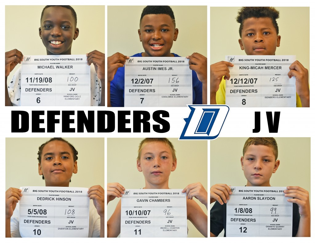 Carolina Defenders JV Roster page 2