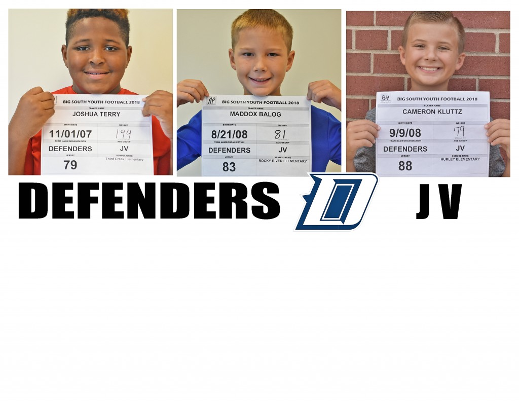 Carolina Defenders JV Roster page 4