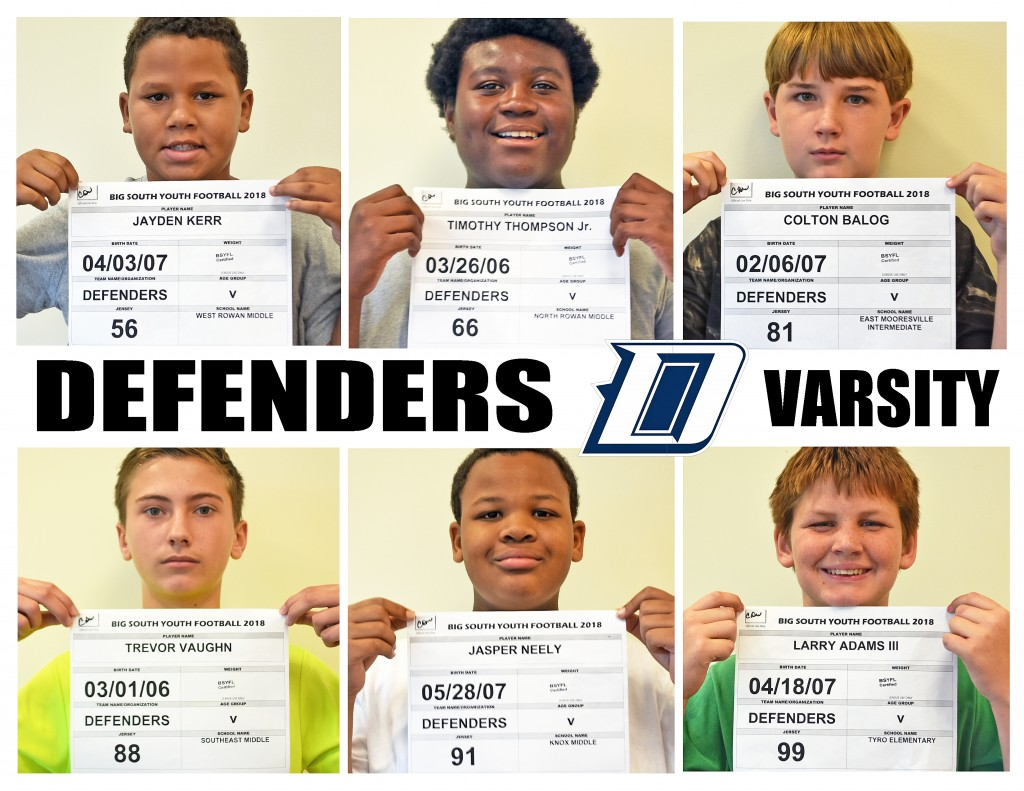 Carolina Defenders Varsity Roster page 3replace