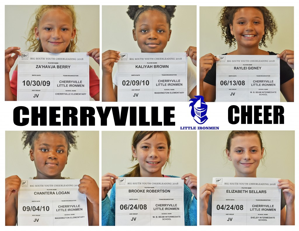 Cherryville JV Cheer Roster page 1