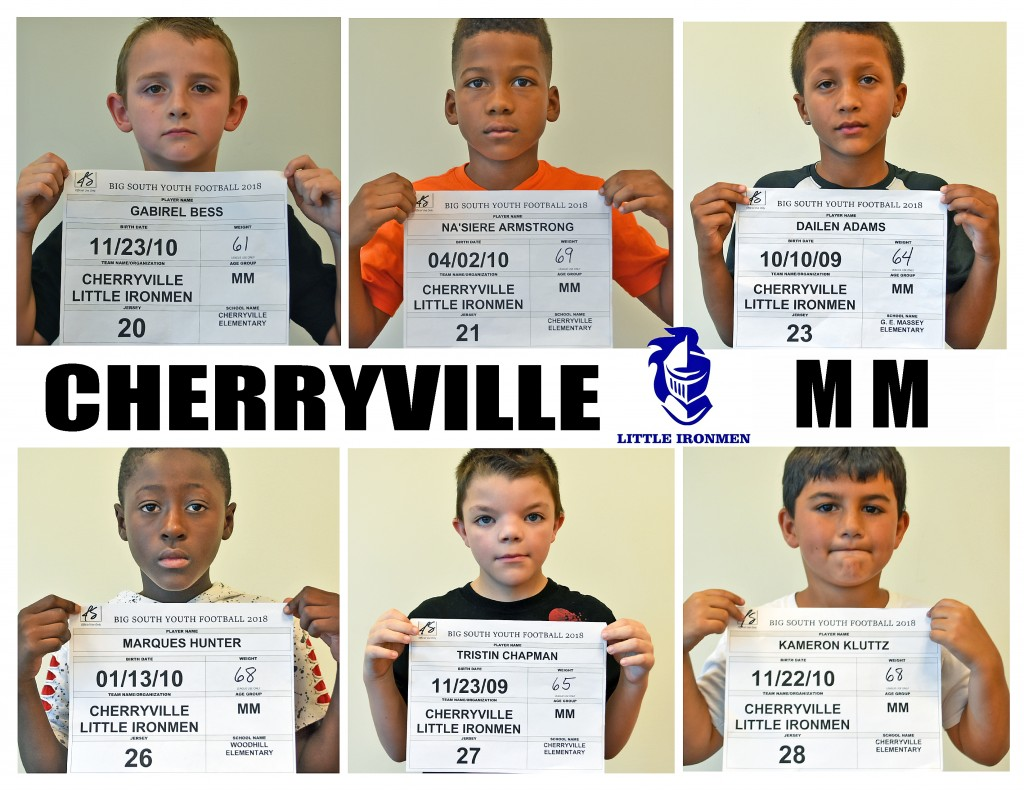 Cherryville Little Ironmen MM Roster page 1