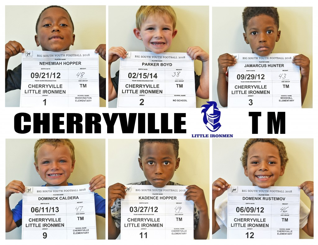 Cherryville Little Ironmen TM Roster page 1