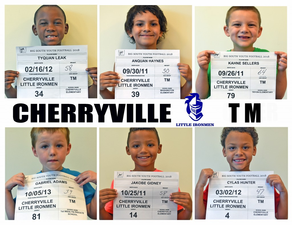 Cherryville Little Ironmen TM Roster page 3