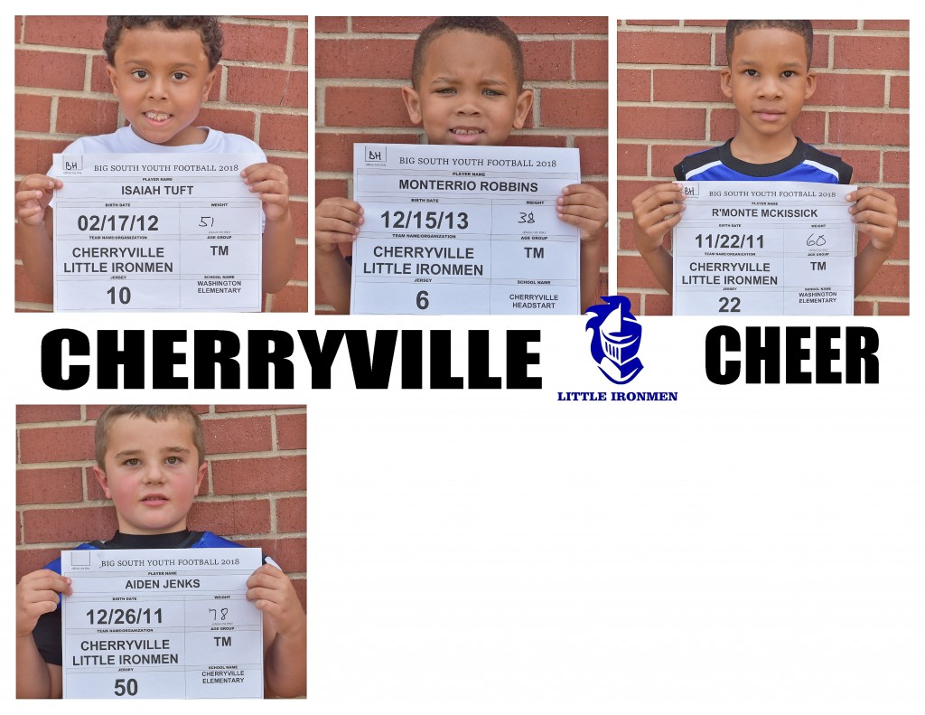 Cherryville Little Ironmen TM Roster page 4