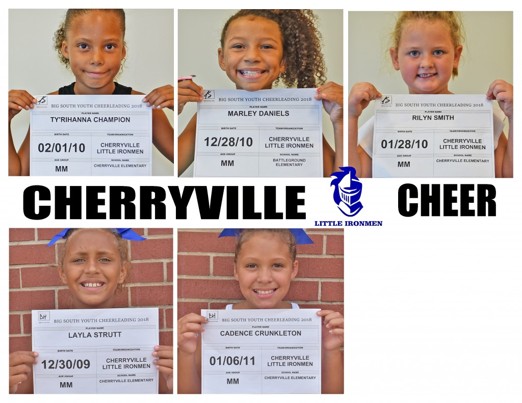 Cherryville MM Cheer Roster page 1