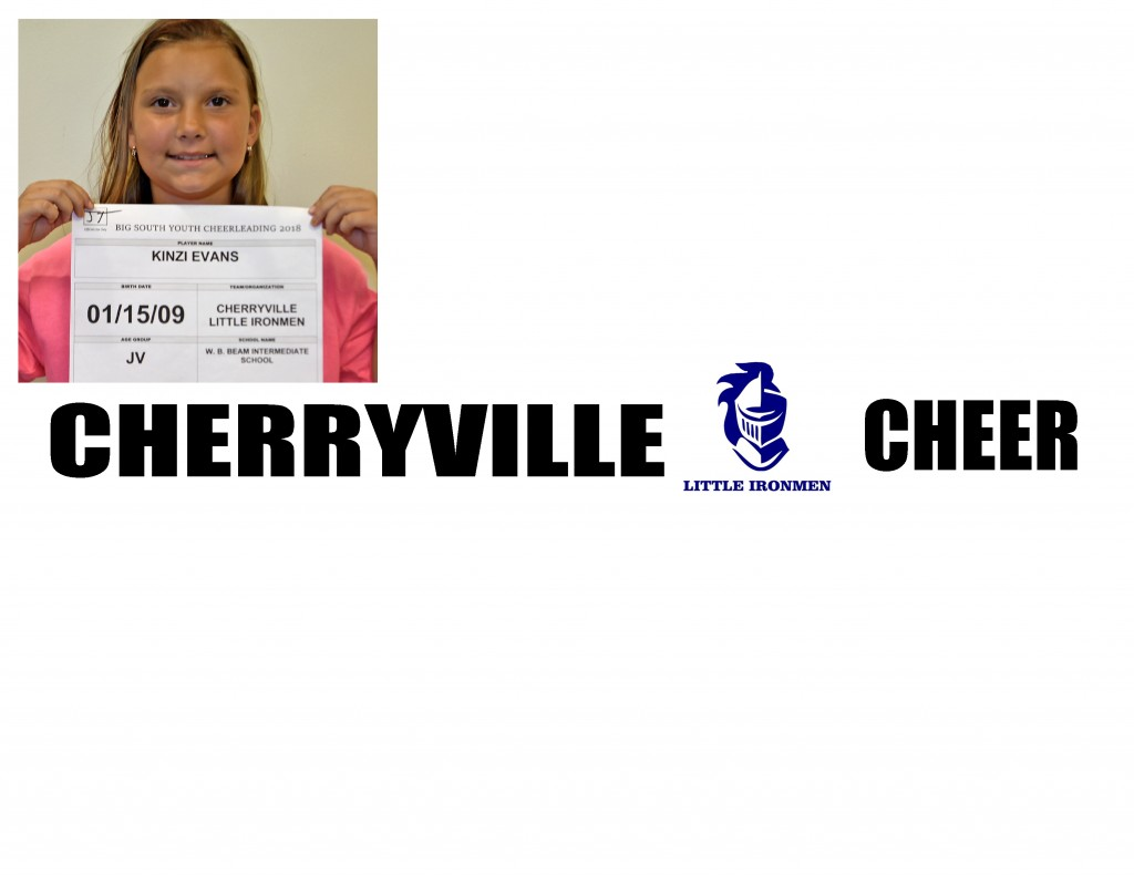 Cherryville Varsity Cheer Roster page 1