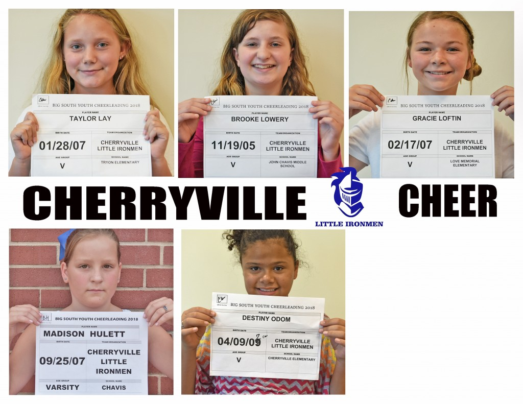 Cherryville Varsity Cheer Roster page 2