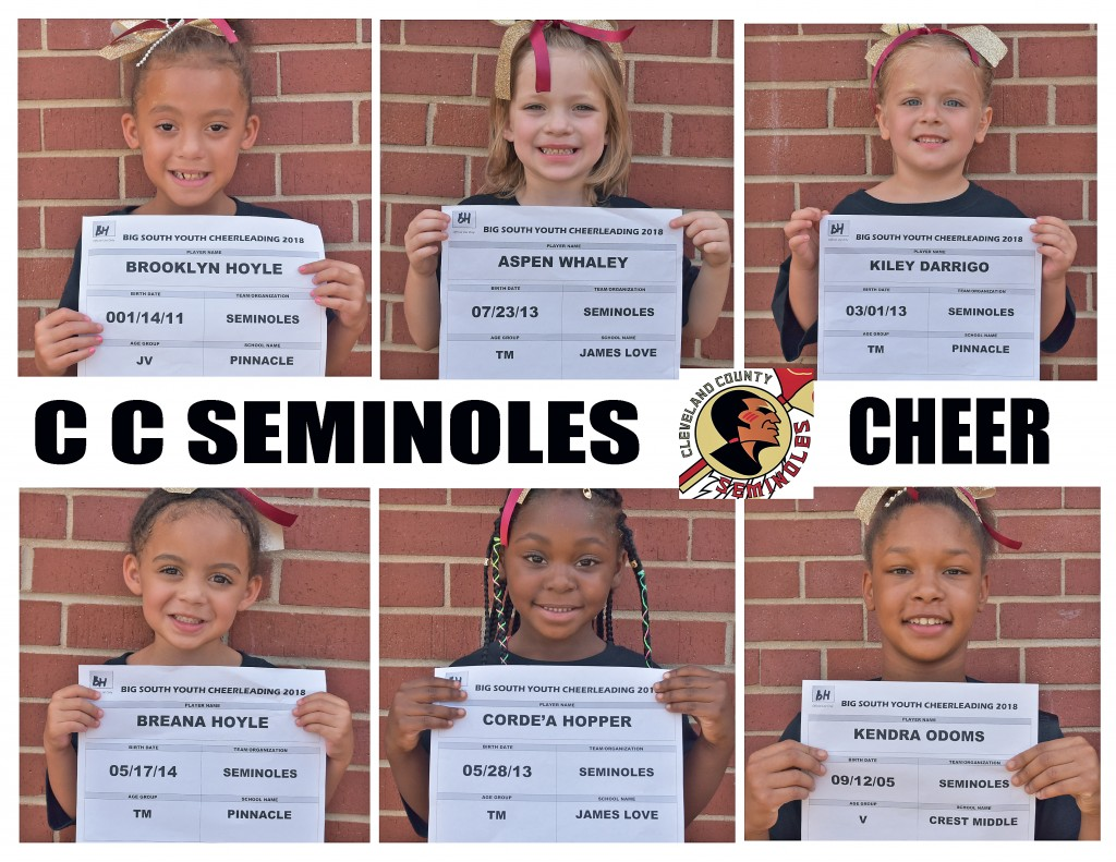 Cleveland County Seminoles Cheer Roster page 3