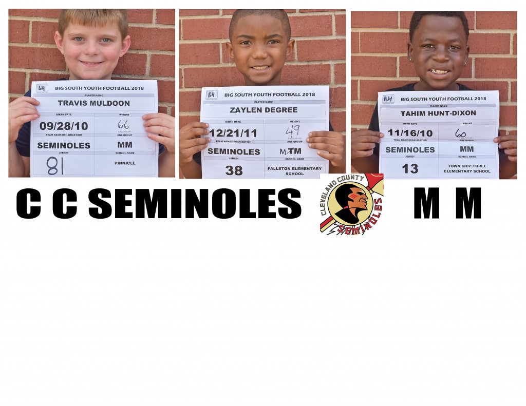 Clevleand County Seminoles MM Roster page 5