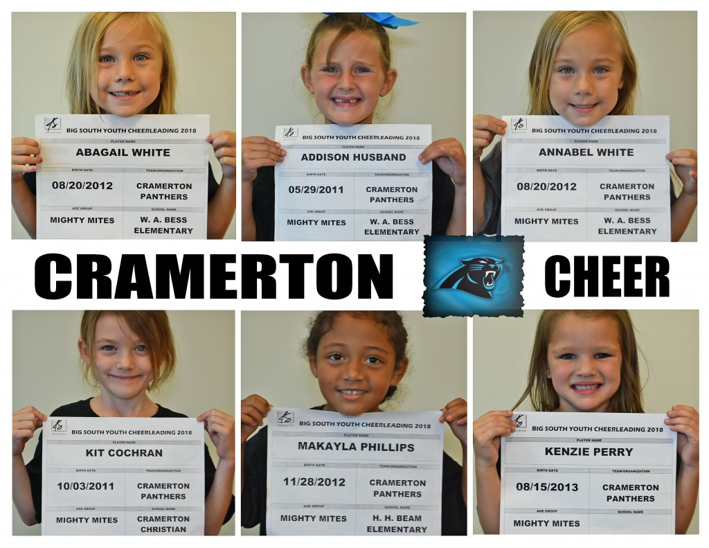 Cramerton Panthers MM Cheer Roster page 1