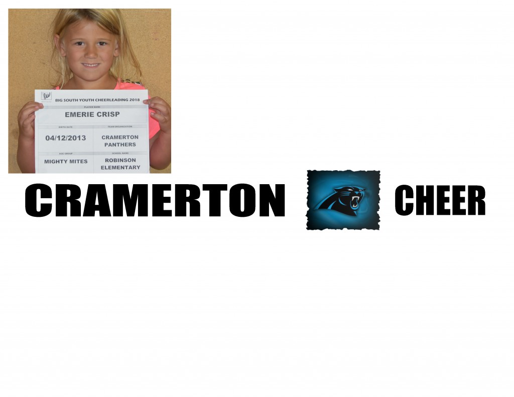 Cramerton Panthers MM Cheer Roster page 2