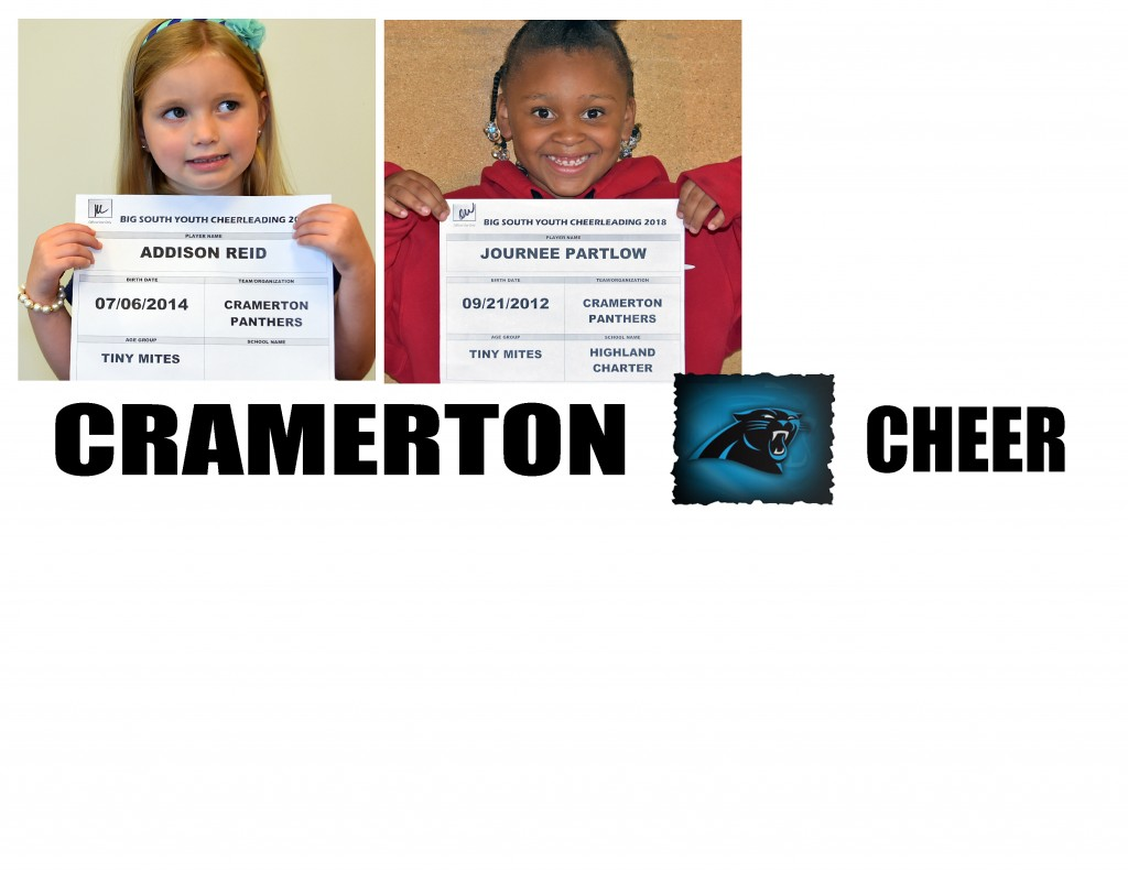 Cramerton Panthers TM Cheer Roster page 2