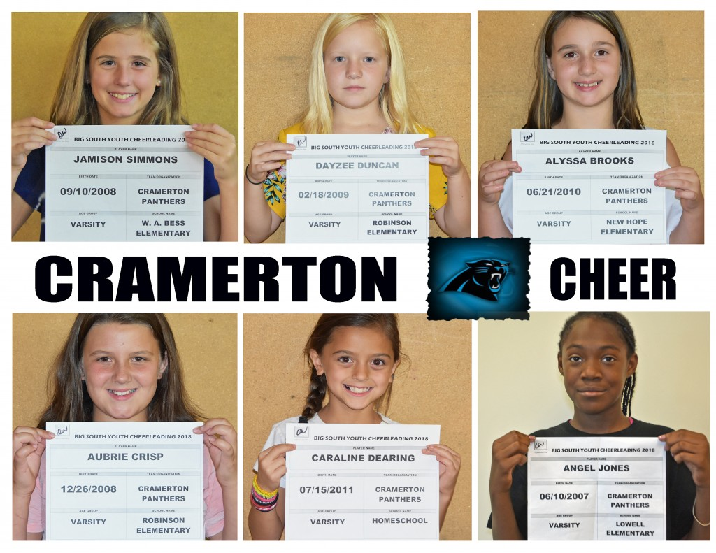 Cramerton Panthers Varsity Cheer Roster page 2 replacement