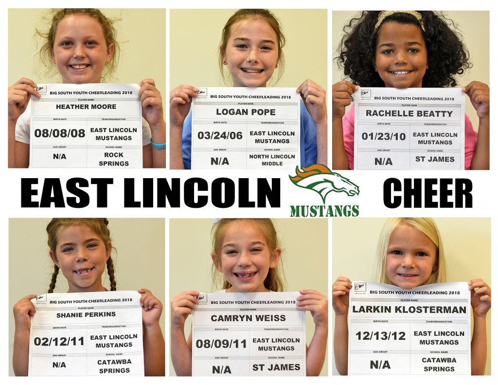 East Lincoln Mustangs Cheer Roster page 2