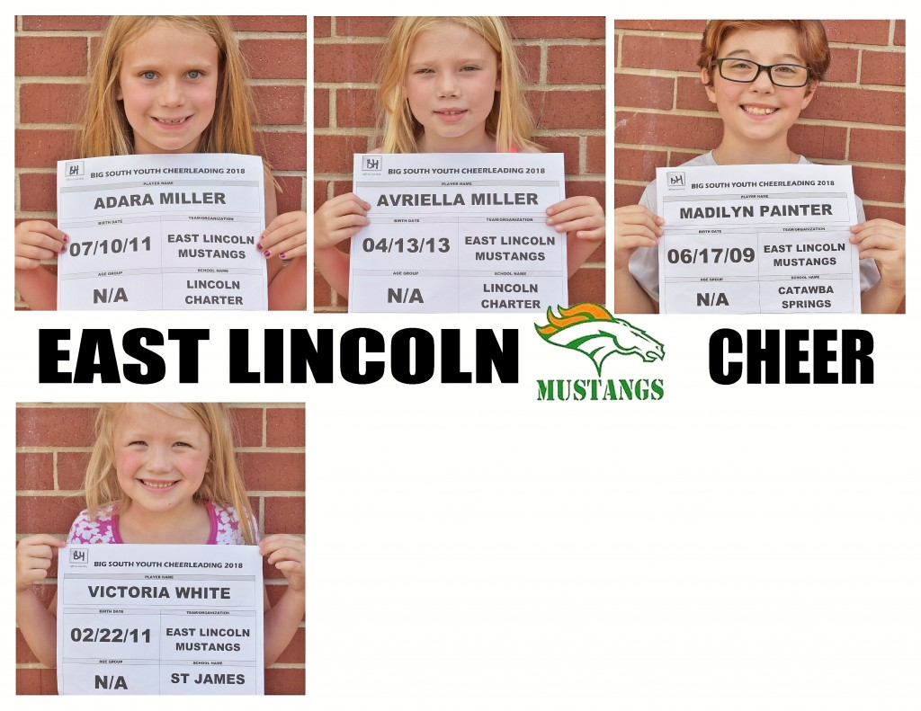 East Lincoln Mustangs Cheer Roster page 4