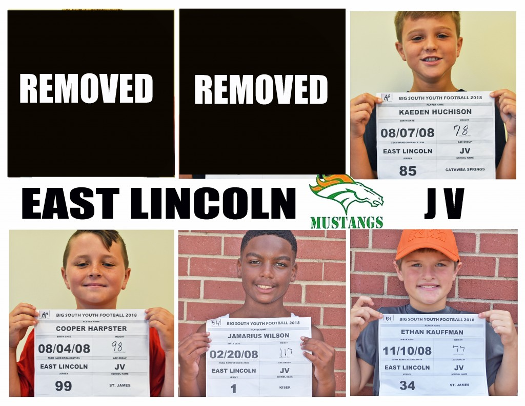 East Lincoln Mustangs JV Roster page 5 replacement