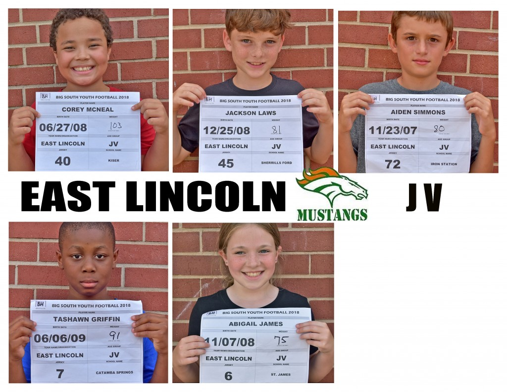 East Lincoln Mustangs JV Roster page 6 replacement