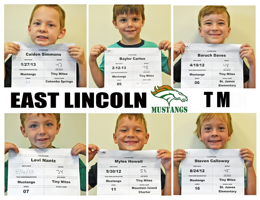 East Lincoln Mustangs TM Roster page 1