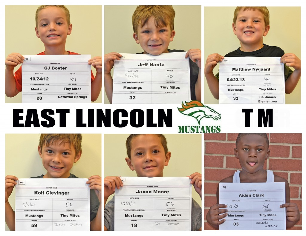 East Lincoln Mustangs TM Roster page 2