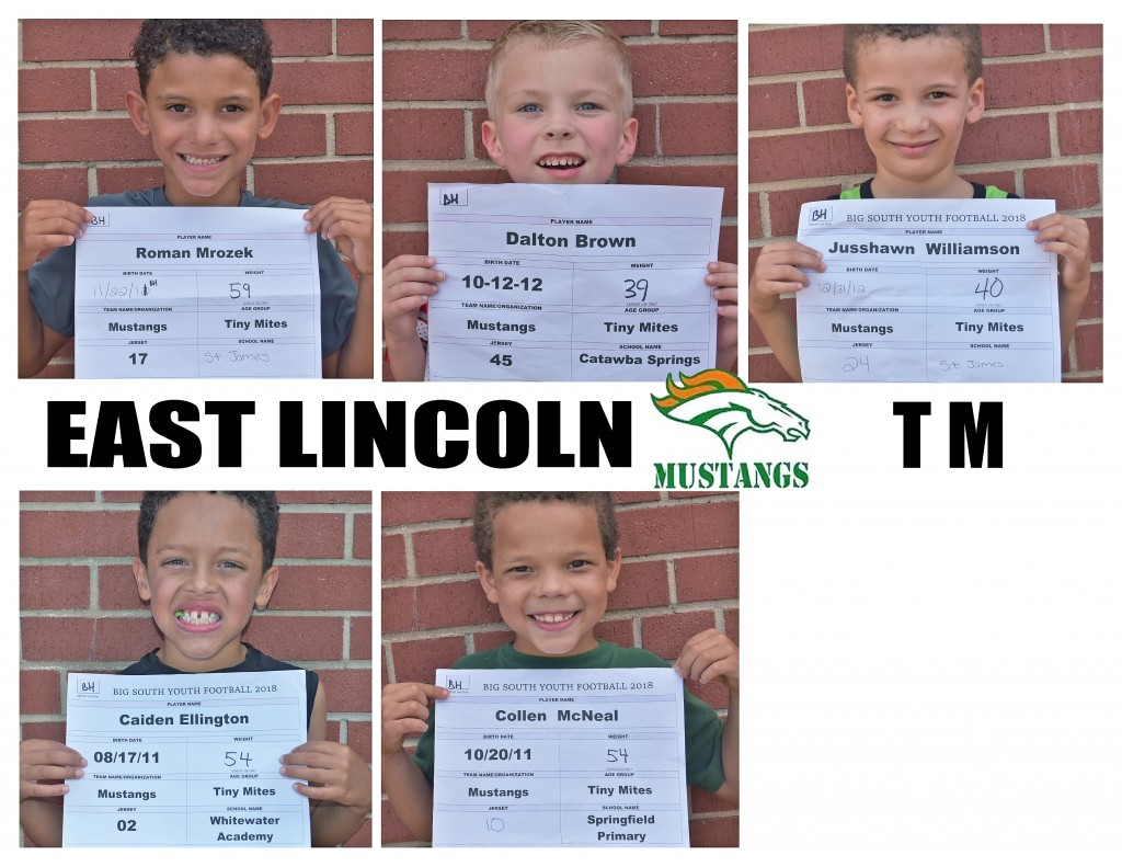 East Lincoln Mustangs TM Roster page 3