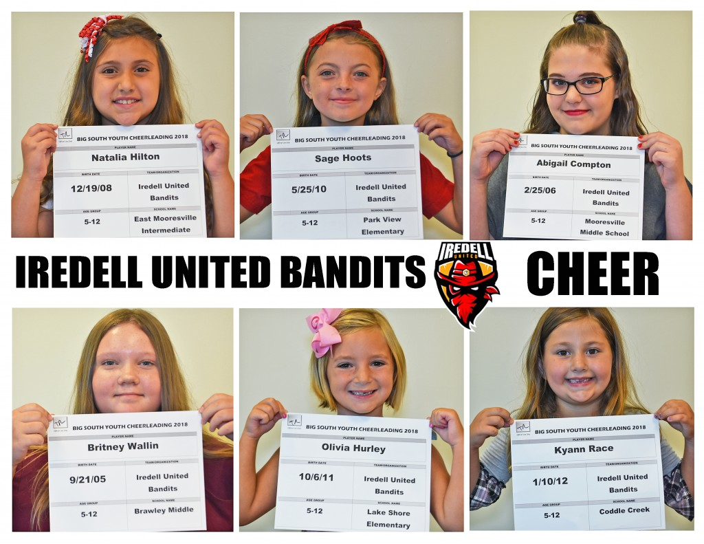 Iredell United Cheer Roster page 1