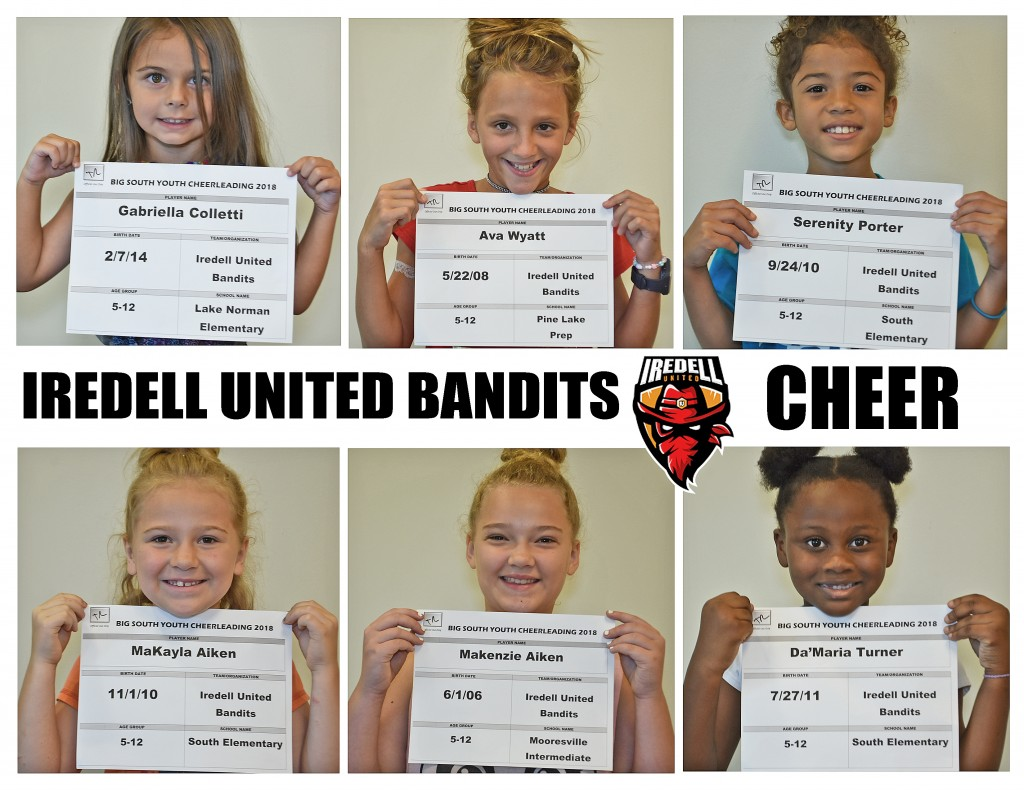Iredell United Cheer Roster page 2