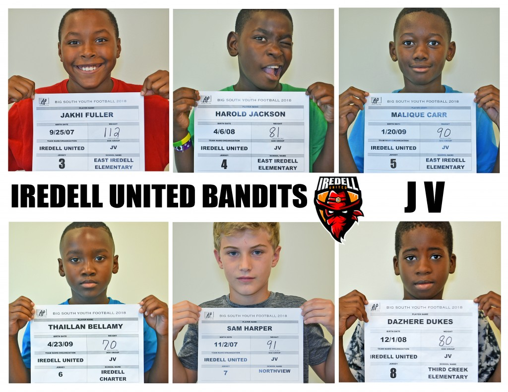 Iredell United JV Roster page 1 NEW