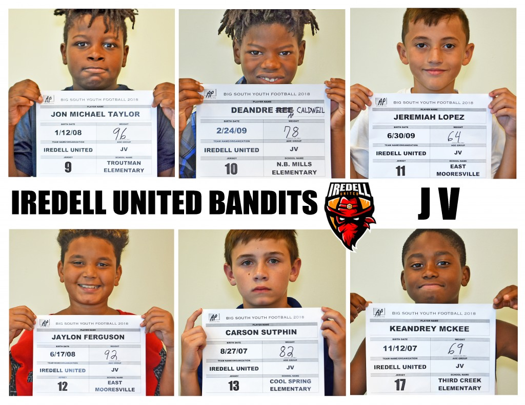 Iredell United JV Roster page 2 NEW