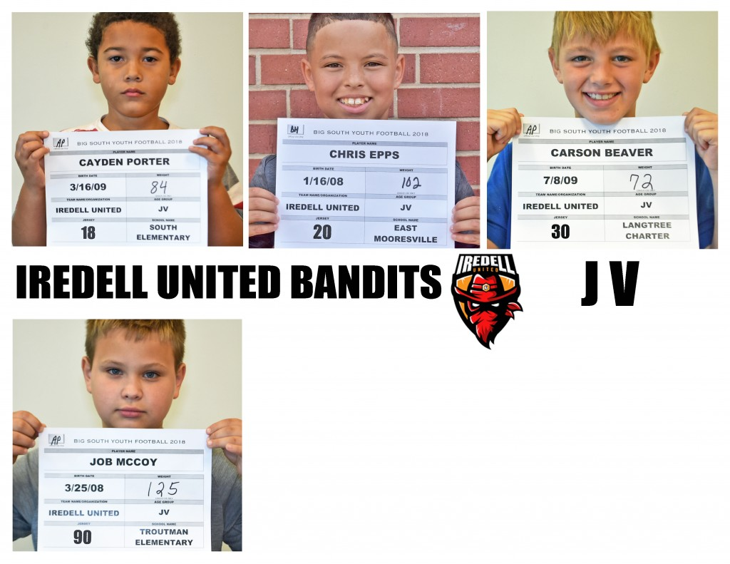 Iredell United JV Roster page 3 NEW
