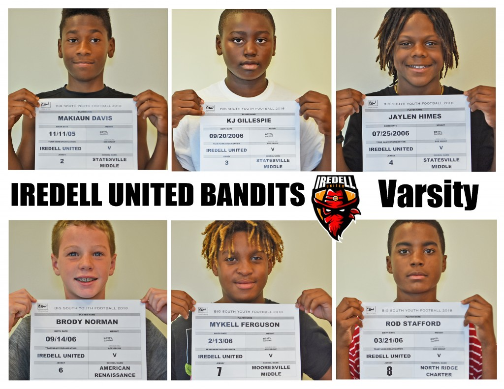 Iredell United Varsity Roster page 1 NEW