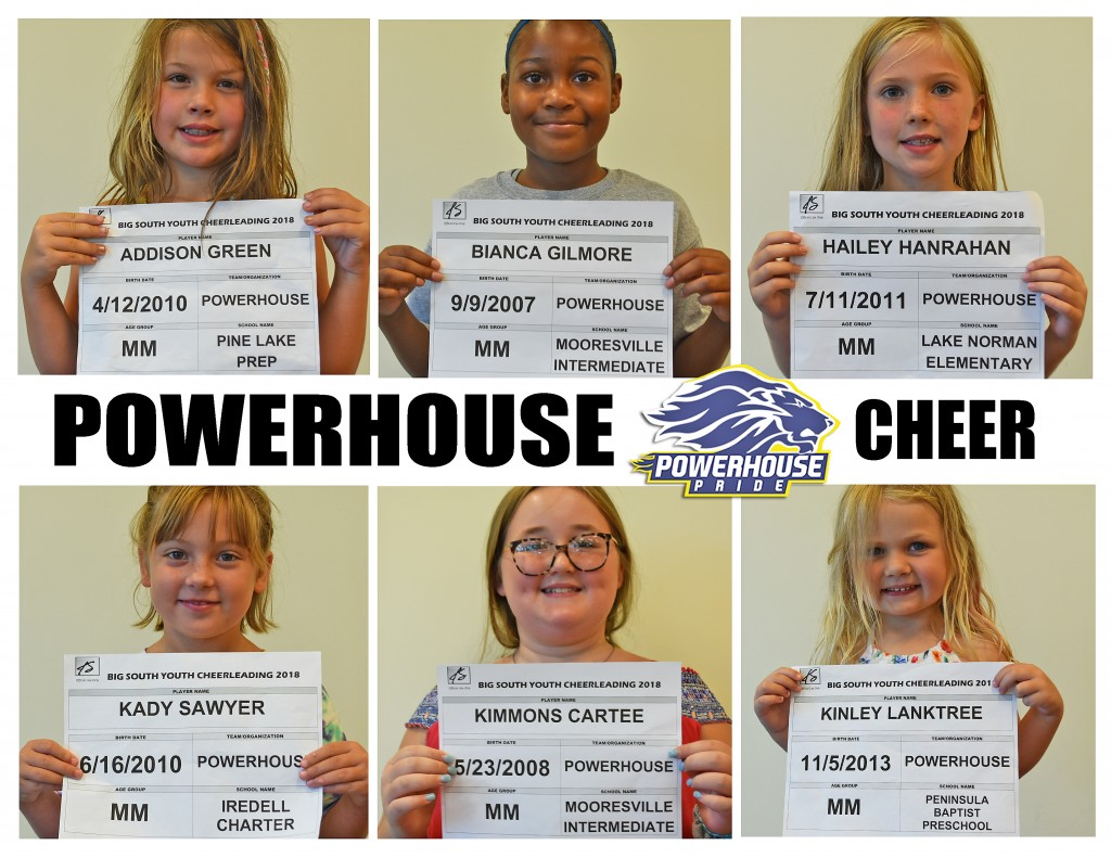 Mooresville Powerhouse Cheer Roster page 1