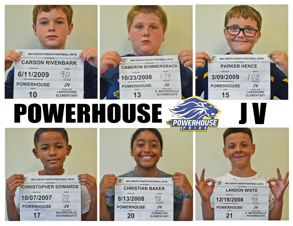 Mooresville Powerhouse JV Roster page 2