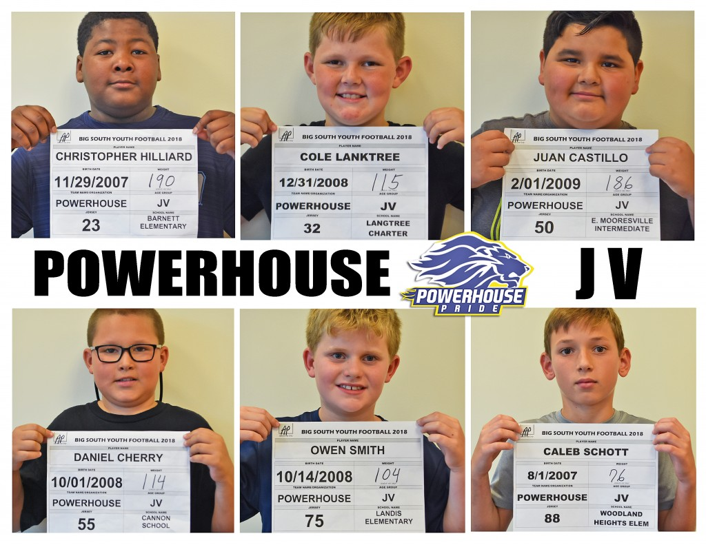 Mooresville Powerhouse JV Roster page 3