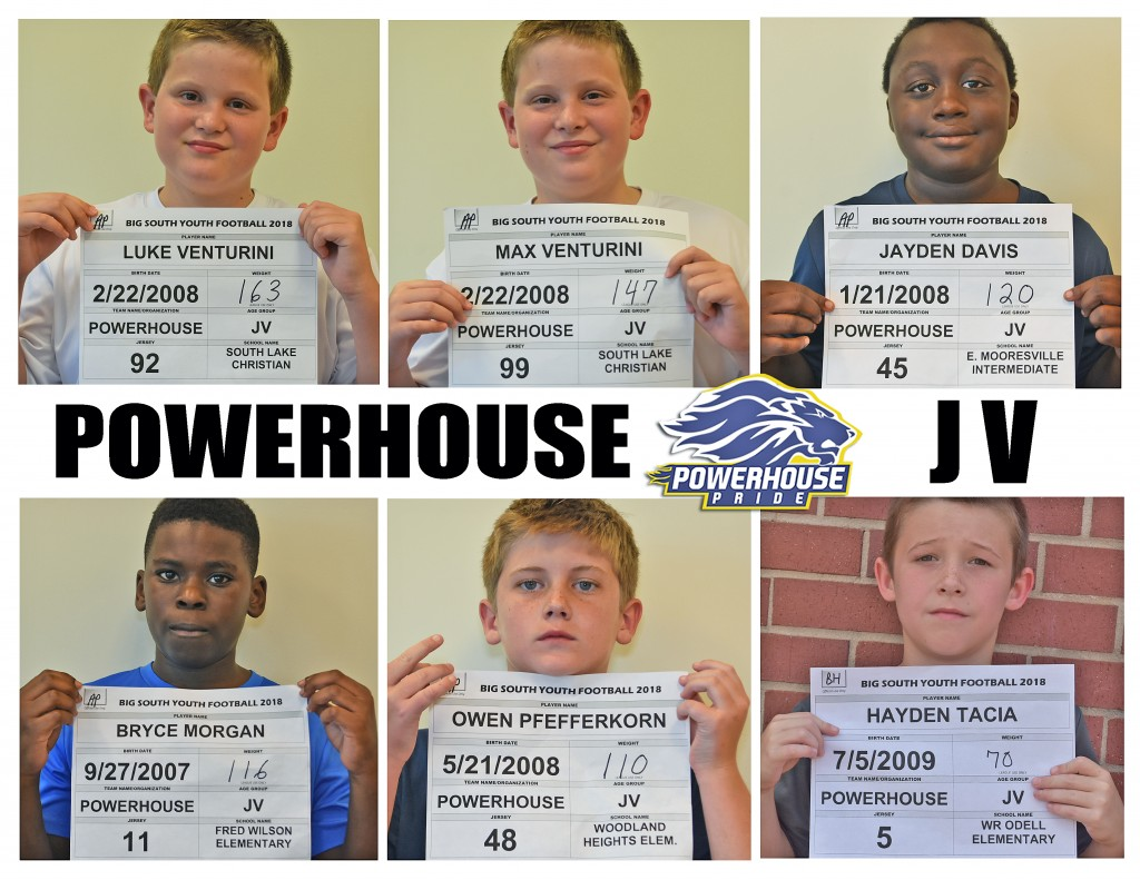 Mooresville Powerhouse JV Roster page 4