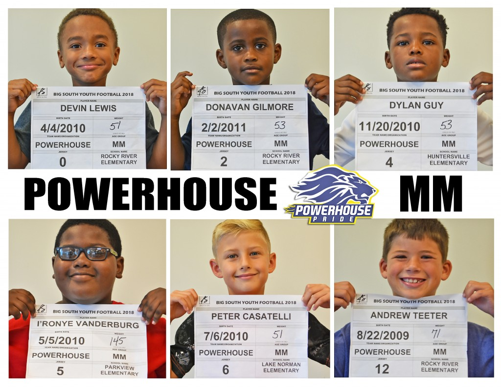 Mooresville Powerhouse MM Roster page 1