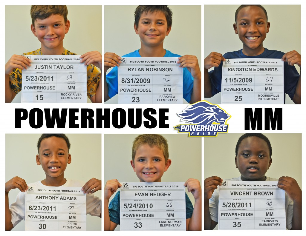 Mooresville Powerhouse MM Roster page 2