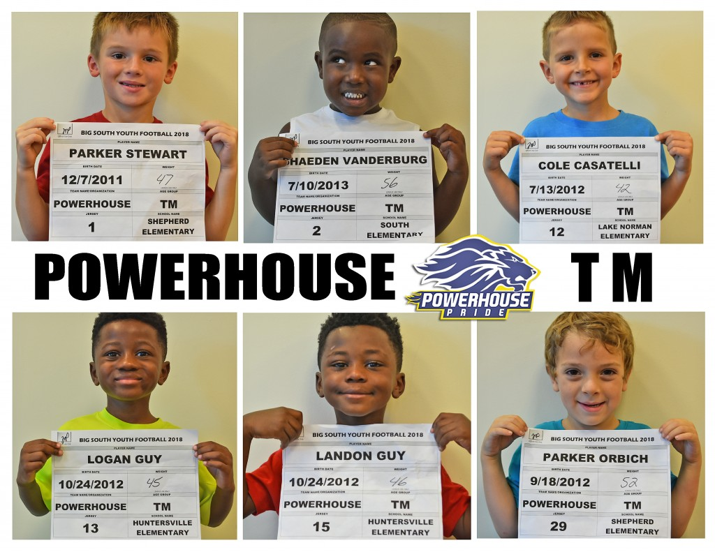 Mooresville Powerhouse TM Roster page 1