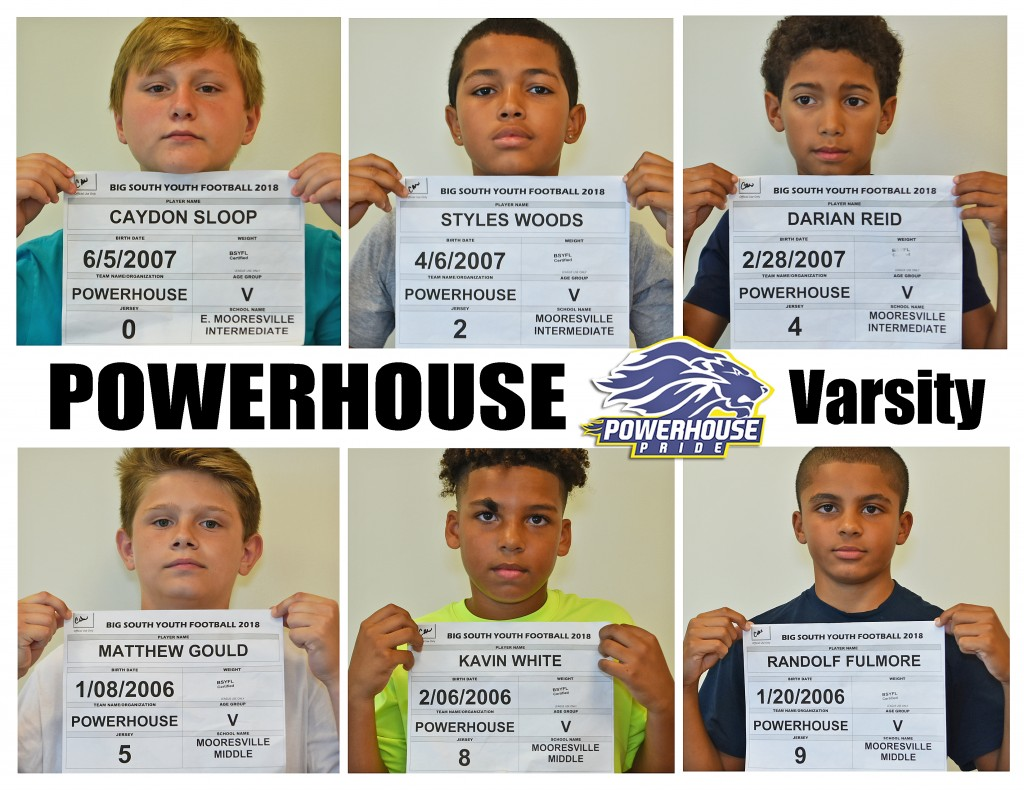 Mooresville Powerhouse Varsity Roster page 1