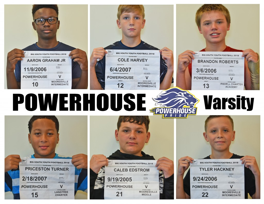 Mooresville Powerhouse Varsity Roster page 2