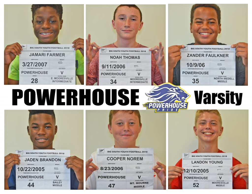 Mooresville Powerhouse Varsity Roster page 3
