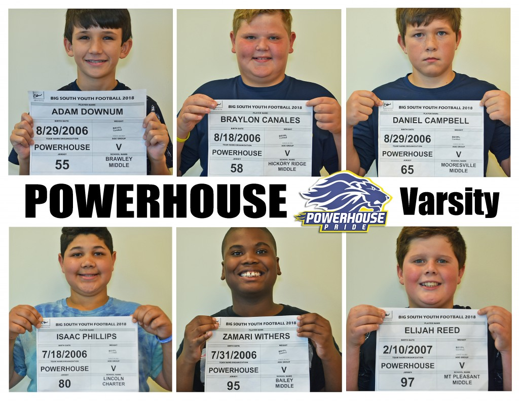 Mooresville Powerhouse Varsity Roster page 4
