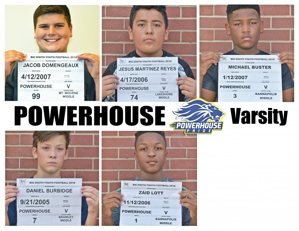 Mooresville Powerhouse Varsity Roster page 5