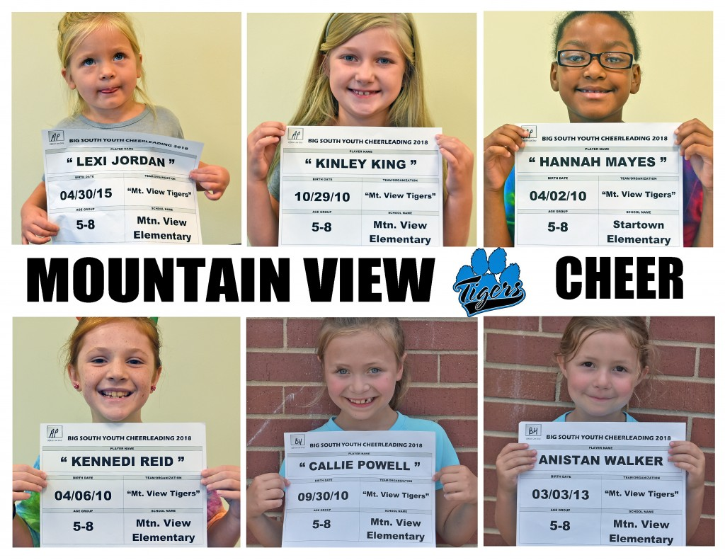 Mountain View Tigers Cheer 5-8 Roster page 2