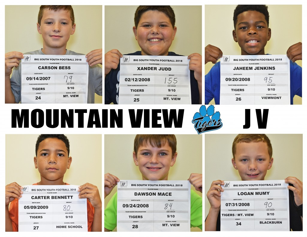 Mountain View Tigers JV Roster page 3